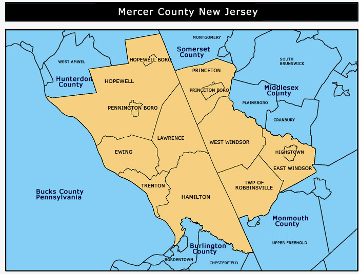 mercer-county-map